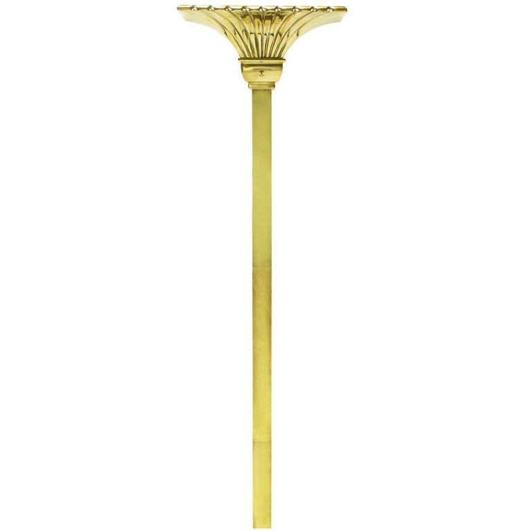 Chapman Lighting Brass Empire Style Wall Mounted Torchiere at 1stdibs