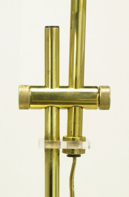 adjustable postmodern brass pharmacy floor lamp at 1stdibs. Black Bedroom Furniture Sets. Home Design Ideas
