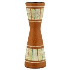 Carstens Tönnieshof Polychrome Glazed Relief Pottery Vase