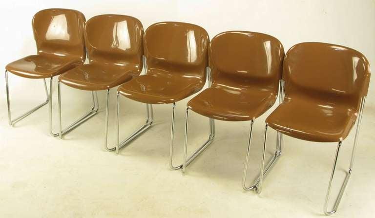Set of four West German manufactured by Drabert. Gerd Lange designed stackable