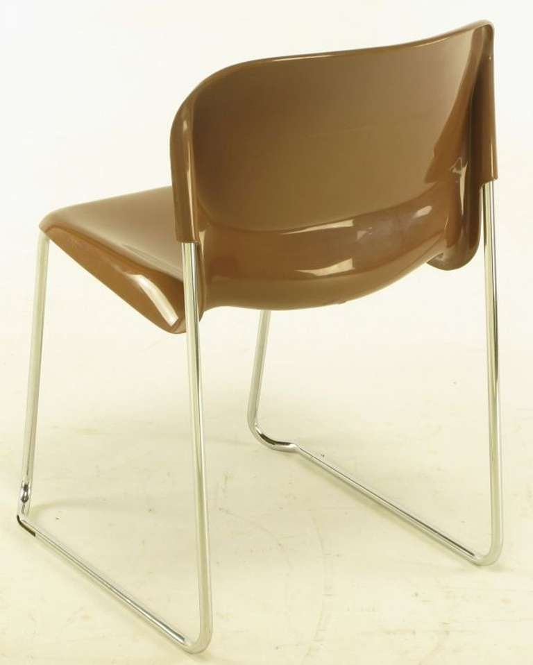 Four Gerd Lange West German Chrome SM 400 Swing Chairs For Sale 1