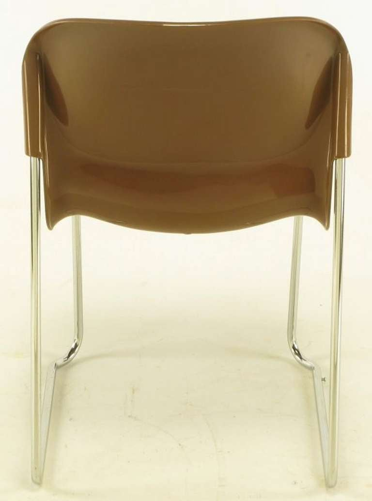 Four Gerd Lange West German Chrome SM 400 Swing Chairs For Sale 2