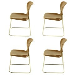 Four Gerd Lange West German Chrome SM 400 Swing Chairs