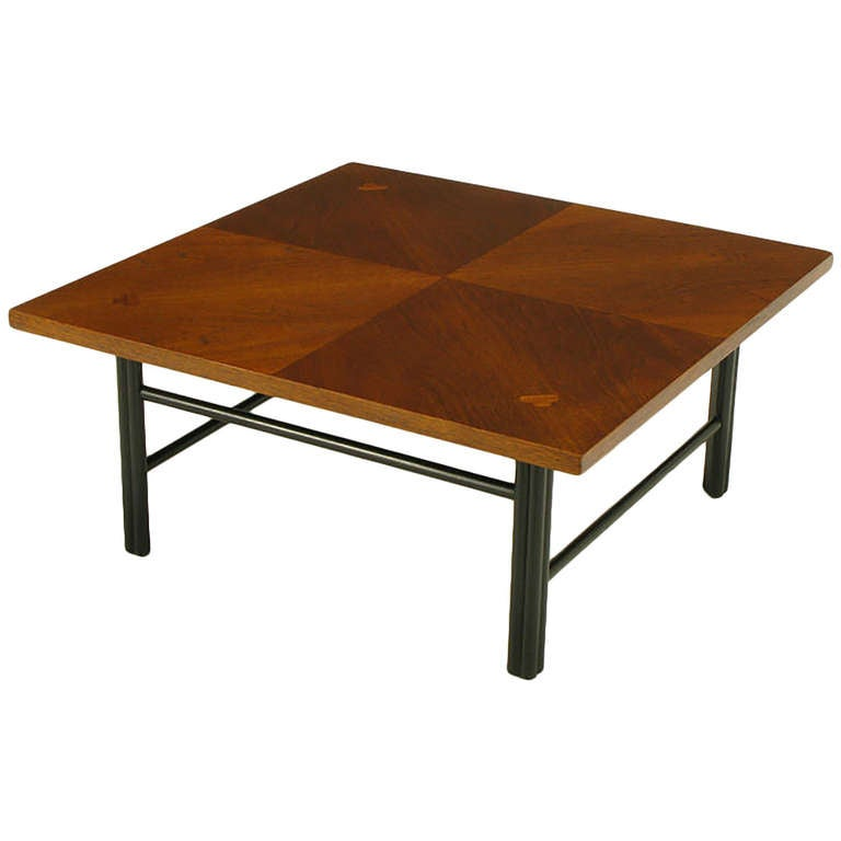 Baker far east square mahogany coffee table at 1stdibs Baker coffee table