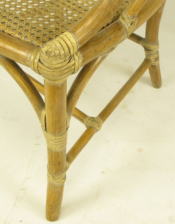Set Six Mcguire Rattan And Cane Louis Xvi Inspired Dining