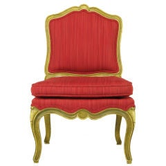 Carved & Lacquered Wood Queen Anne Style Child's Chair
