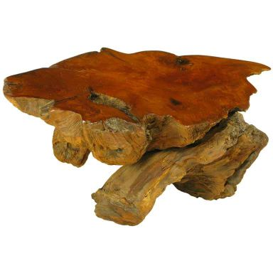 Burled Redwood End Table