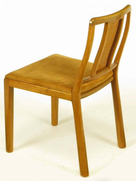 Eight Edward Wormley Light Mahogany Dining Chairs At 1stdibs