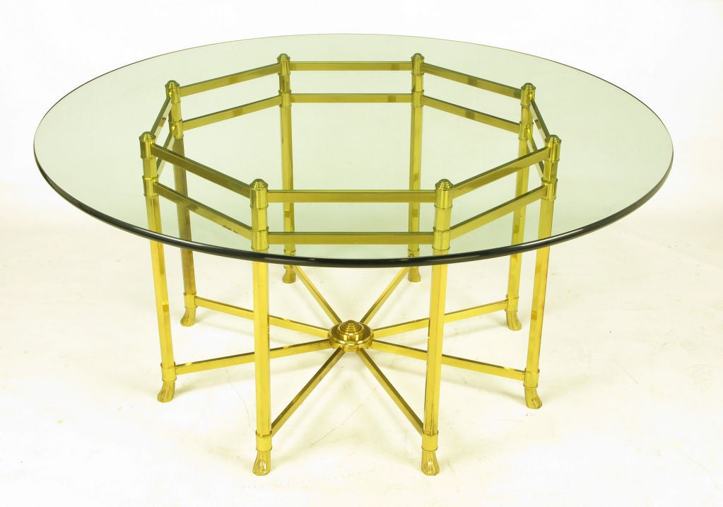 Large Octagonal Brass Dining Table With Hooved Feet at 1stdibs : 841913038561171 from www.1stdibs.com size 1023 x 717 jpeg 68kB