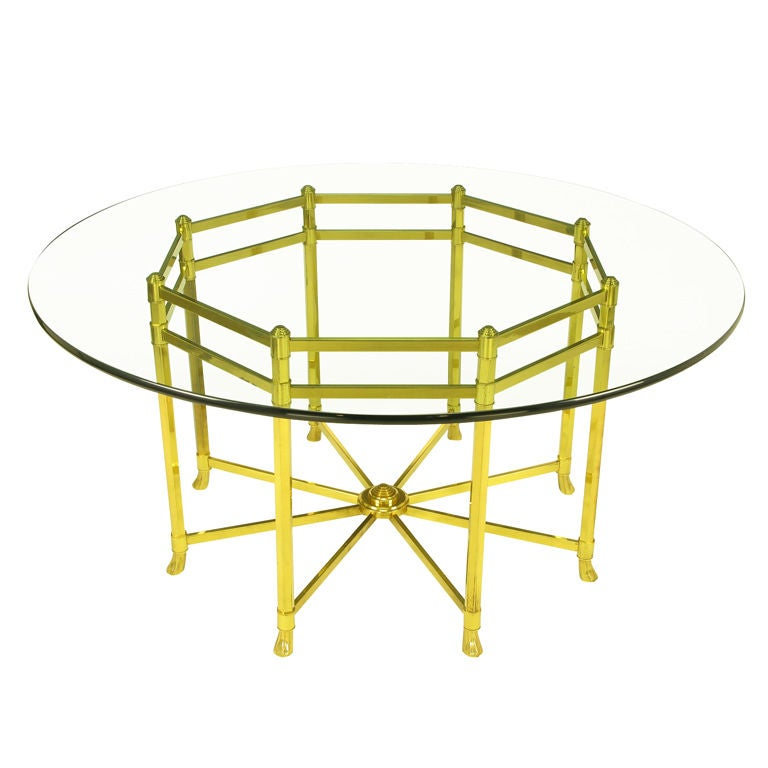 Large Octagonal Brass Dining Table With Hooved Feet at 1stdibs : XXX841913038561171 from www.1stdibs.com size 768 x 768 jpeg 42kB