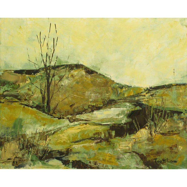 Impressionist Landscape Oil Painting By Tootelian