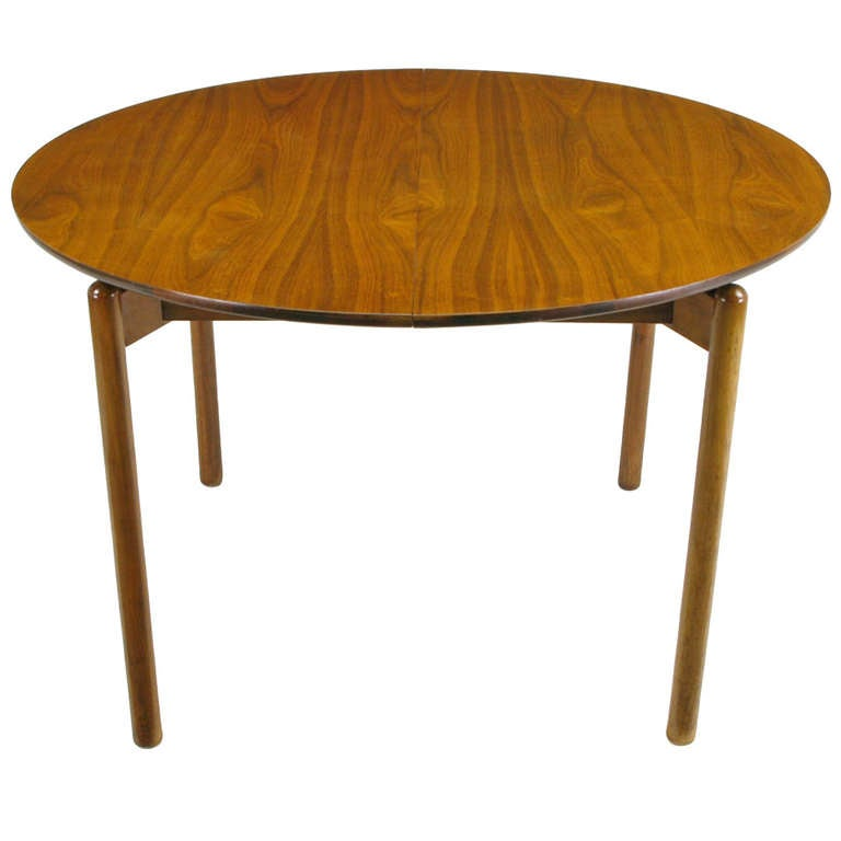 Greta Grossman Round Walnut Dining Table By Glenn Of California For