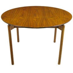 Greta Grossman Round Walnut Dining Table by Glenn of California