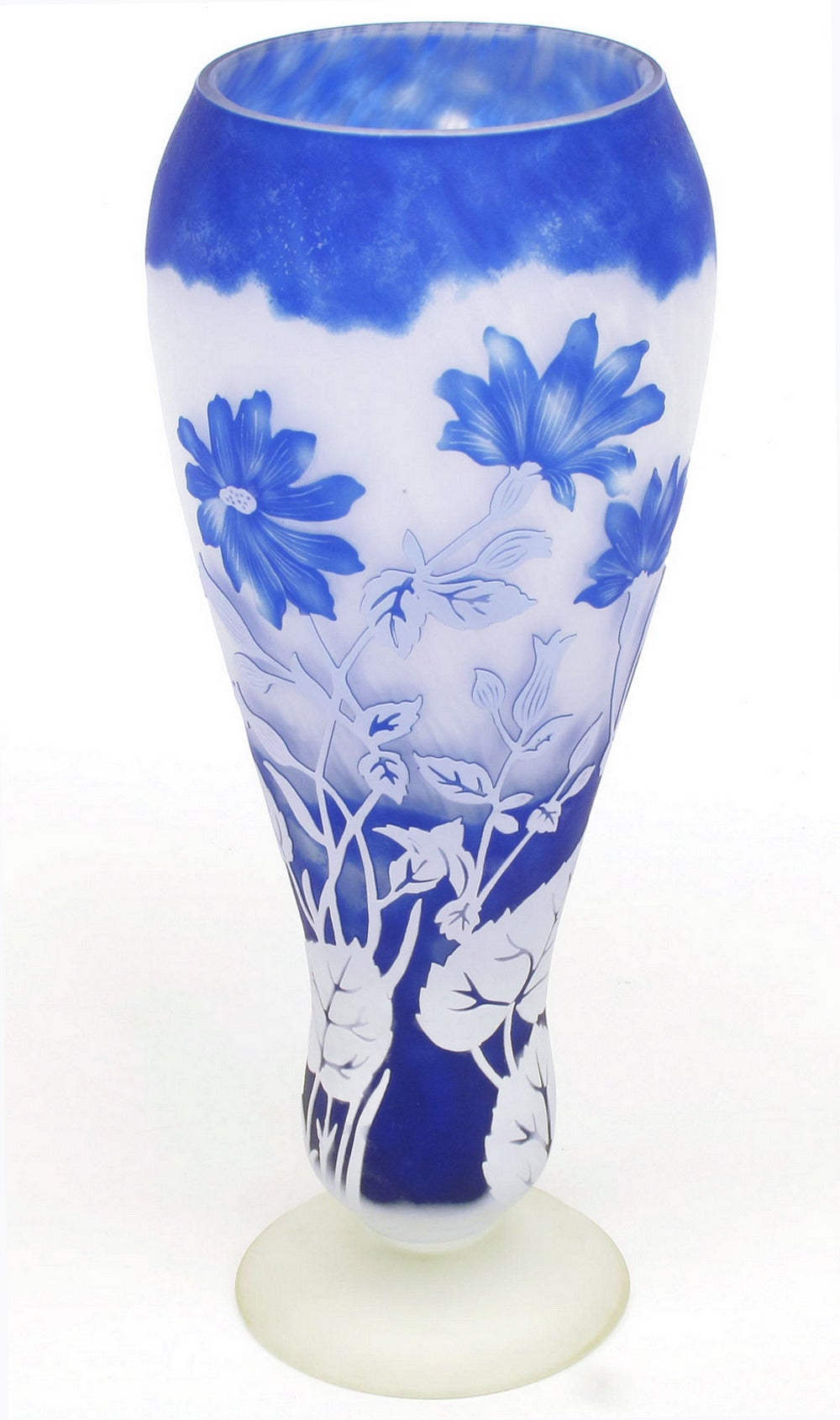 large a vase baccarat and images ex view lg blue late cobalt glass auction clear century cut