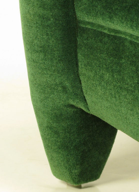 Donghia Deco Revival Club Chair In Emerald Green Mohair At