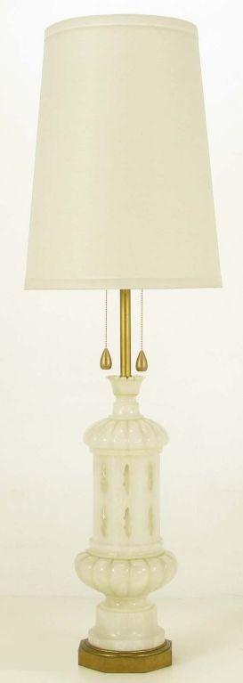51 Italian Alabaster Moroccan Design Table Lamp at 1stdibs