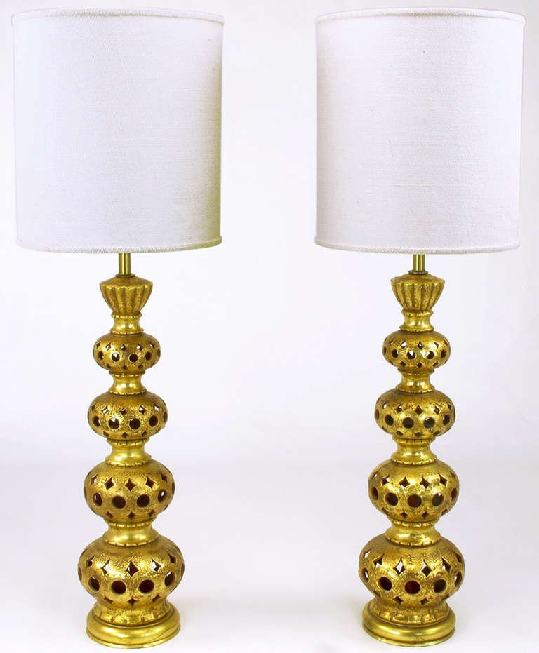 and gilt quadruple gourd ceramic table lamps for sale at 1stdibs. Black Bedroom Furniture Sets. Home Design Ideas
