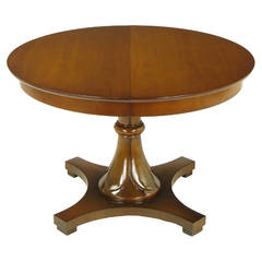 Lorin Jackson for Drexel Reverse Quatrefoil Base Pedestal Table