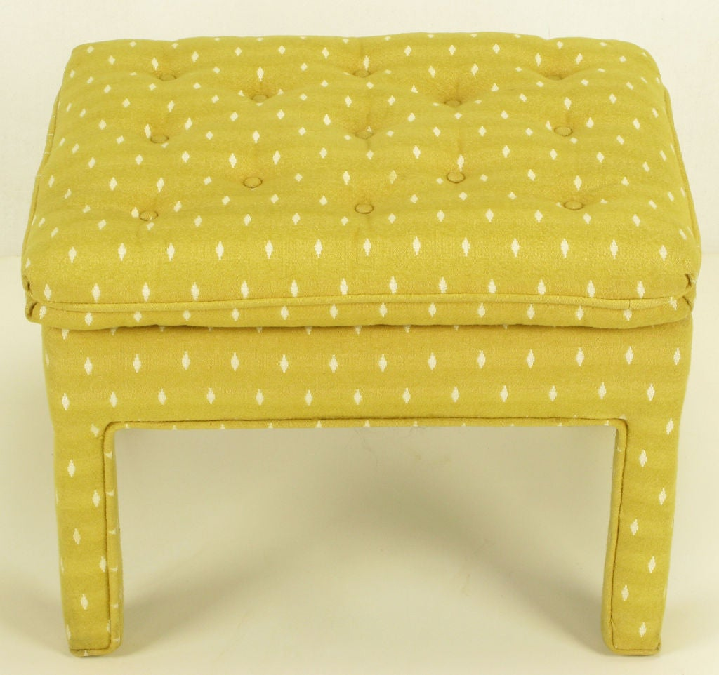 Pair Fully Upholstered Button-Tufted Parsons Benches 4