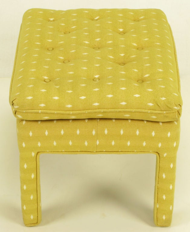 Pair Fully Upholstered Button-Tufted Parsons Benches image 6
