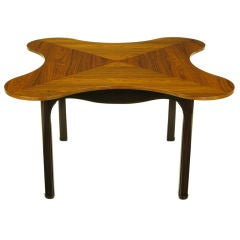 Edward Wormley Rosewood & Walnut Quatrefoil Game Table
