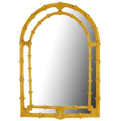 Arch-Top Mirror Of Umber Glazed Vines