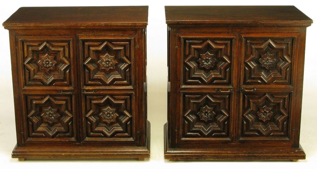 Pair Artes De Mexico 1960s Cabinets Signed By The Artisan