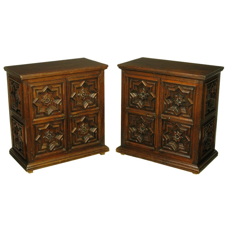 Marvelous Pair Artes De Mexico 1960s Cabinets Signed By The Artisan Maker 1