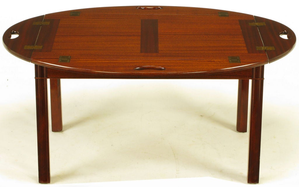Nathan Margolis Shop Ribbon Mahogany Butler 39 S Tray Table At 1stdibs
