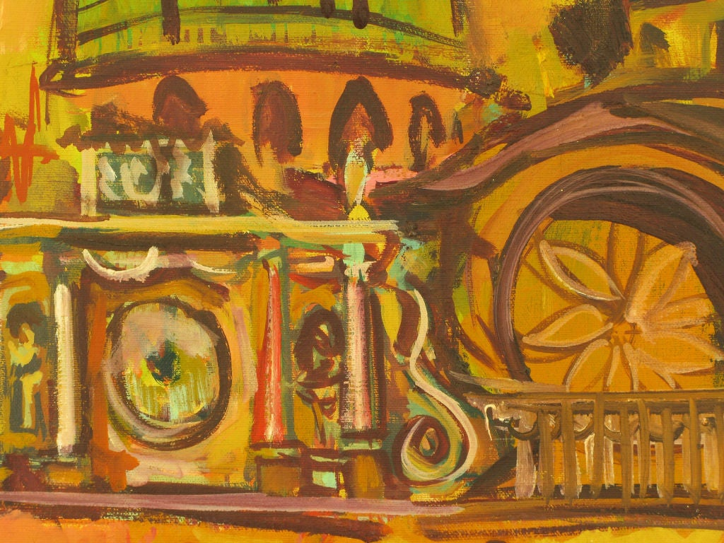 Mid-20th Century Oil On Canvas Of St. Marks Basilica - Venice For Sale