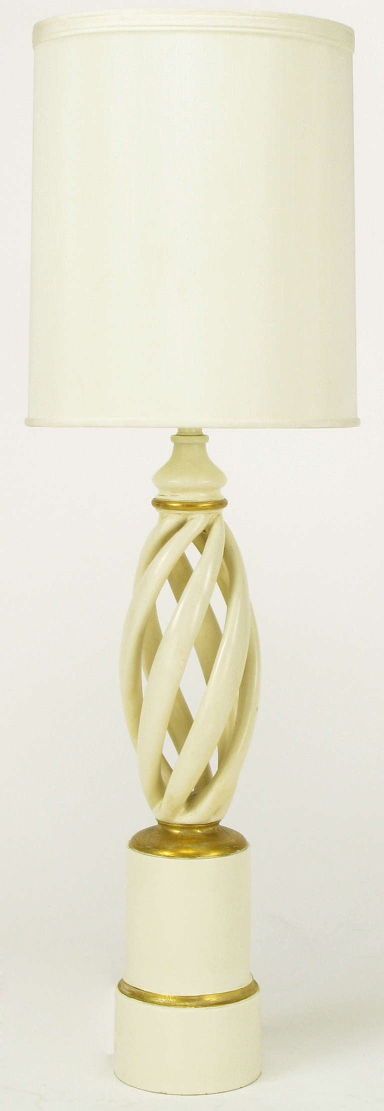 Frederick cooper ivory and gilt twisted table lamp for sale at 1stdibs frederick cooper ivory gilt twisted table lamp 2 geotapseo Image collections