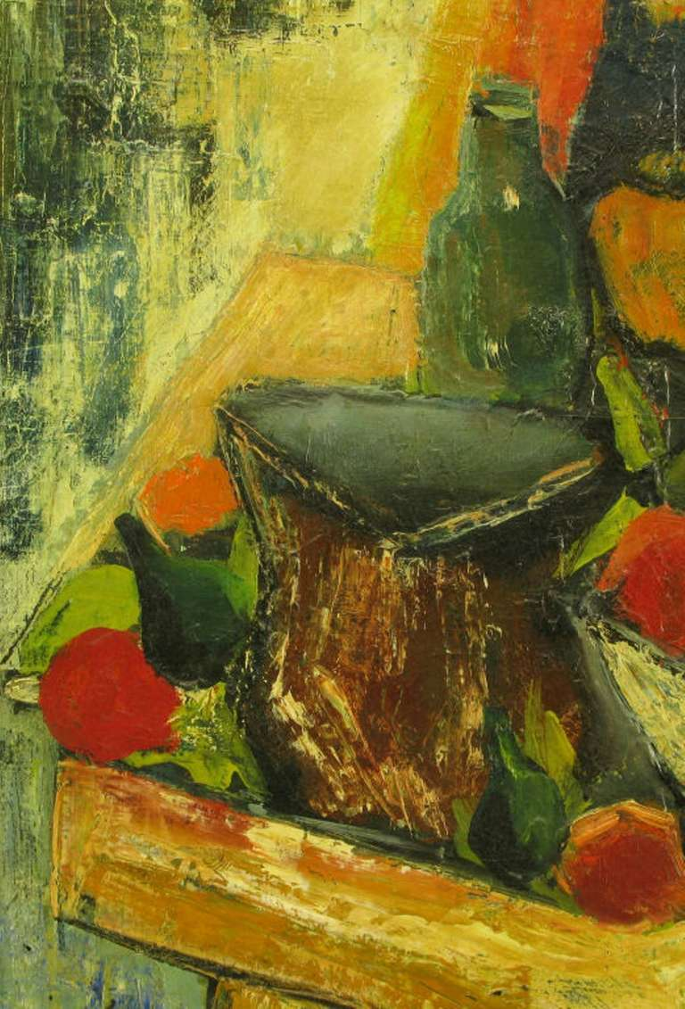 French Henri D'Anty Abstract Still Life Oil On Canvas For Sale