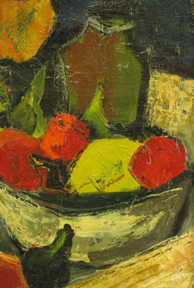 Henri D'Anty Abstract Still Life Oil On Canvas In Excellent Condition For Sale In Chicago, IL