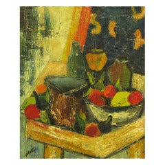 Henri D'Anty Abstract Still Life Oil On Canvas