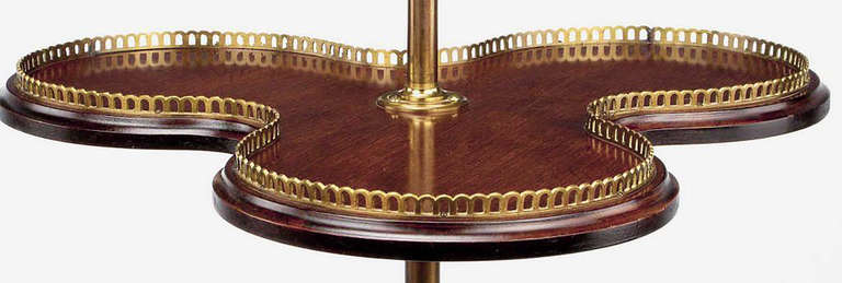 Mid-20th Century English Revolving Confection Server in Brass and Mahogany For Sale