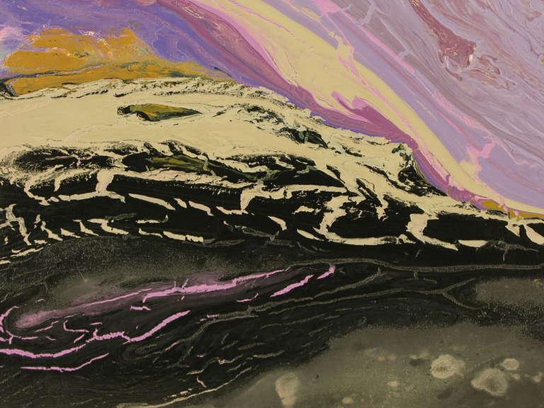 20th Century Christine Alfery Acrylic Abstract,