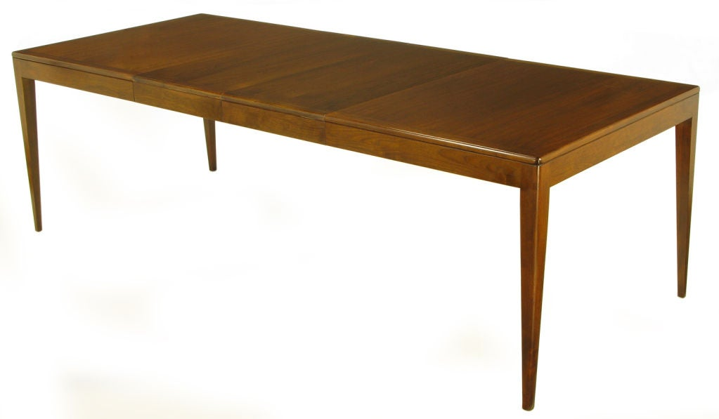sleek 1950s custom mahogany tapered leg dining table at 1stdibs