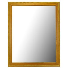 Kindel Bleached Walnut & Parcel Gilt Wall Mirror