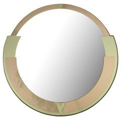 Signed David Marshall Round Deco Revival Mirror