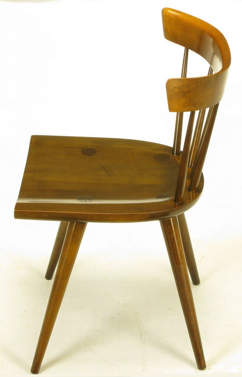 Four Paul McCobb Dark Maple Spindle Back Dining Chairs At 1stdibs