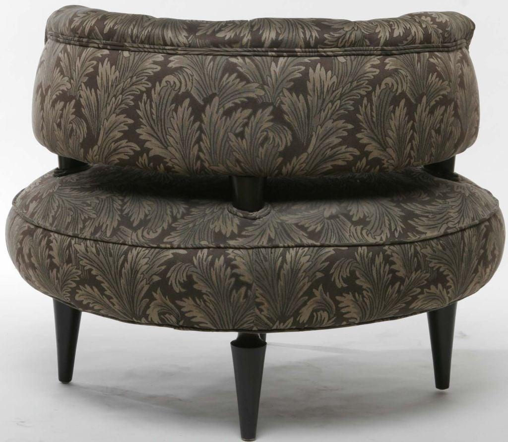 Pair Carson Pirie Scott Co Round Art Deco Club Chairs