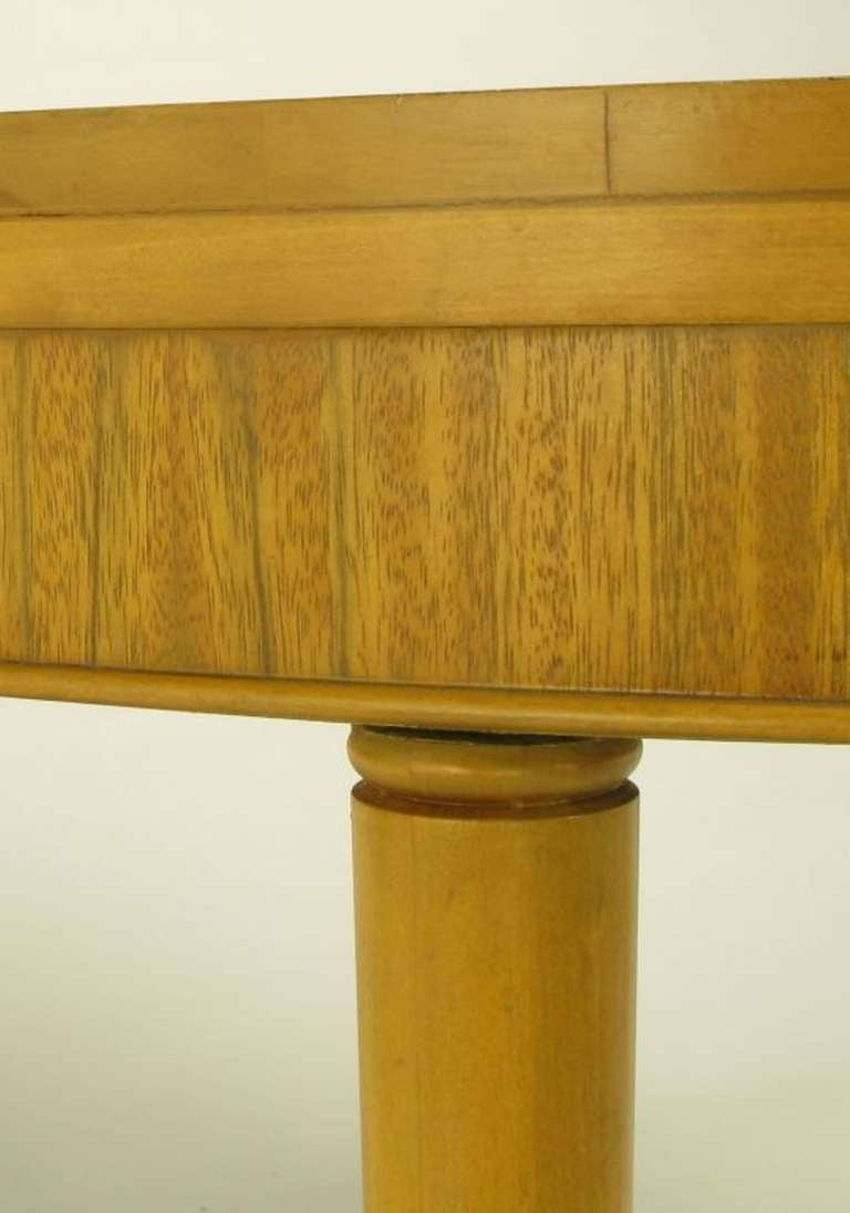 Primavera Mahogany Racetrack Oval Dining Table For Sale 3