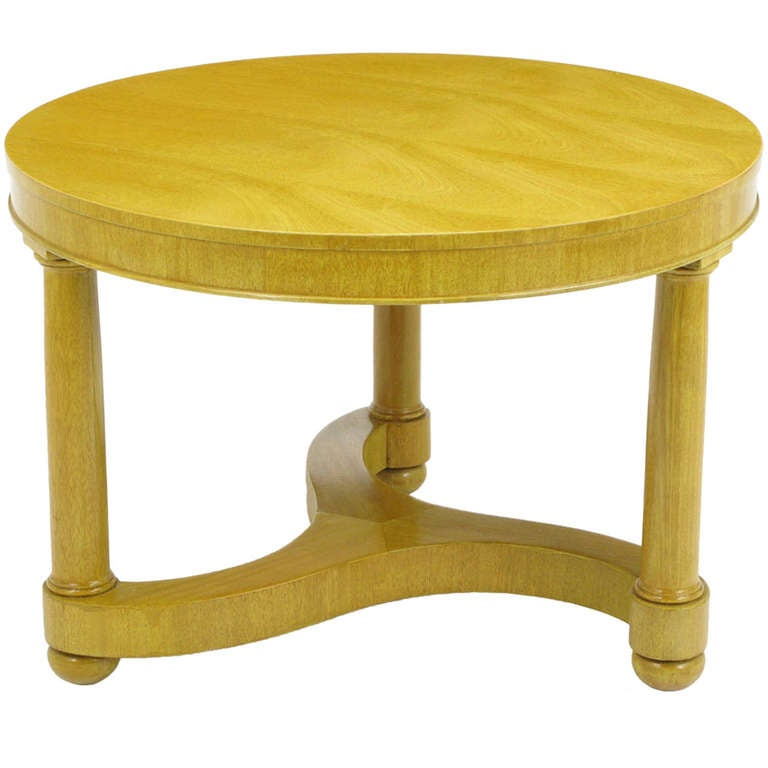 Empire Style Bleached Mahogany Coffee Table