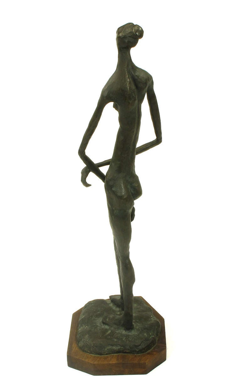 American Signed, Bronze Female Nude Abstract Sculpture For Sale