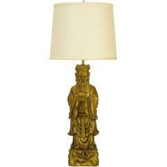 Confucius Gilt Metal Table Lamp