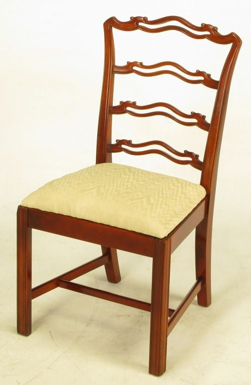 six ribbon back chippendale dining chairs at 1stdibs