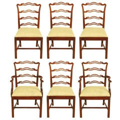 Six Ribbon Back Chippendale Dining Chairs