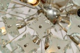 Chrome & Glass Ball Chandelier image 2