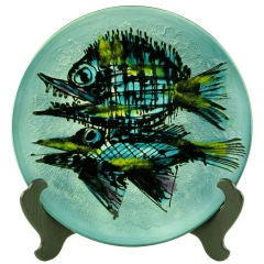Large & Colorful Handpainted Japanese Porcelain Bowl