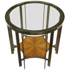 Joe Jeup for Donghia Bronze and Macassar Ebony Centre or End Table
